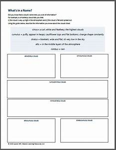Clouds And The Water Cycle Worksheets For 1st - 3rd Graders