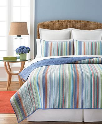 Macys Coverlets by Closeout Martha Stewart Collection Chatham Stripe Quilts