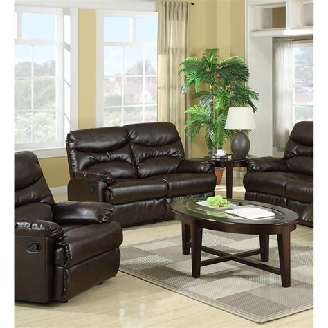 brown leather recliner sofa set geneva brown bonded leather recliner sofa set dcg stores