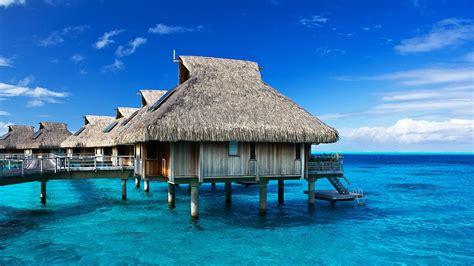 Tropical Hut Resort Ocean Wallpaper  1920x1080 248076