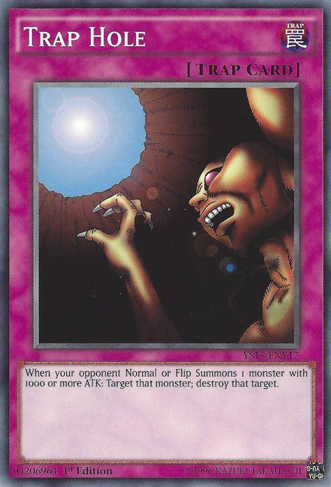 trap hole yugioh yu gi oh card cards ys15 rare trappe edition duelist league deck gx monster dl09 en017 nm