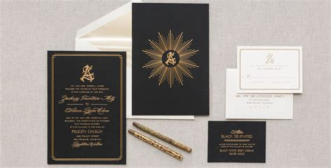 Deco Black and Gold Deco motifs combine with a stunning