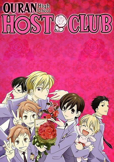ouran high school host club poster  xbrittx redbubble
