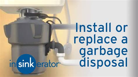 how to install remove a garbage disposal insinkerator