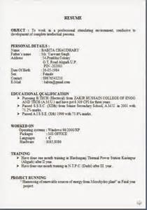 resume or biodata pdf format of biodata for pdf