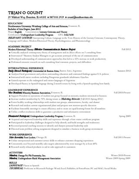 issuu liberal arts resume by northwestern