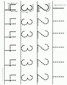 number tracing worksheet numbers 1 to 4 printable With traceable letters and numbers for preschoolers