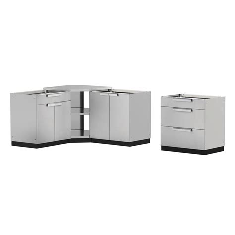 home depot outdoor kitchen cabinets newage products stainless steel classic 4 110x36x76 7143