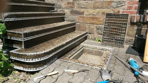 Streichen Außen by Waschbetontreppe Mit Steinteppich Sanieren Fugenloser