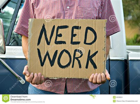 Need Work stock photo. Image of jobless, destitute, need ...