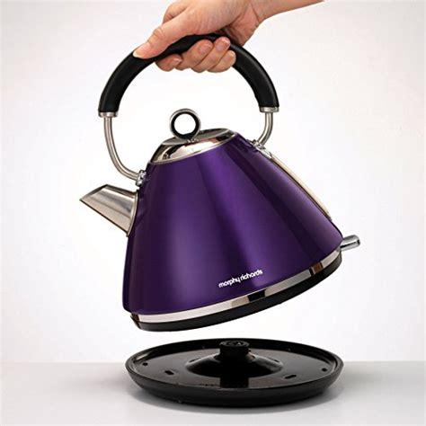 morphy richards plum kitchen accessories morphy richards accents purple kettle 1 5l 3kw plum 9290