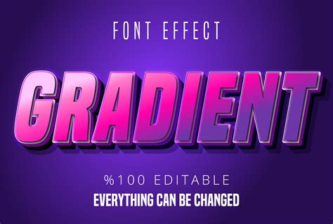 Colorful gradient font effect 692435 - Download Free ...