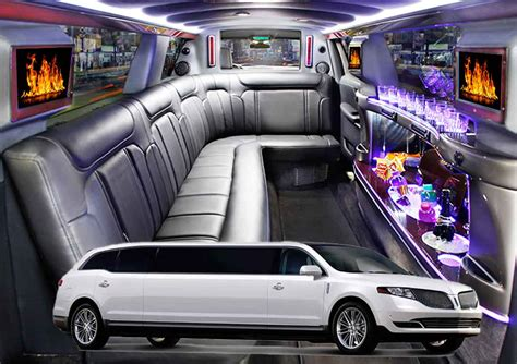 A Limousine Service by Stretch Limousine Service Boston 8 Passengers White