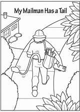 Mailman Coloring sketch template