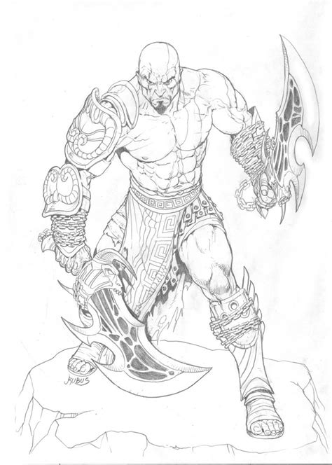 Kratos Pencils By Rubusthebarbarian On Deviantart