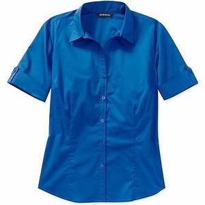 George - George Women's Essential Short-Sleeve Button-Down ...