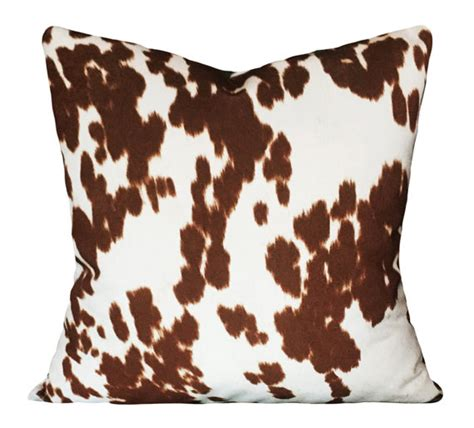 Cowhide Pillow Cover by Faux Cowhide Pillow Cover Throw Pillow Both Sides 10x20