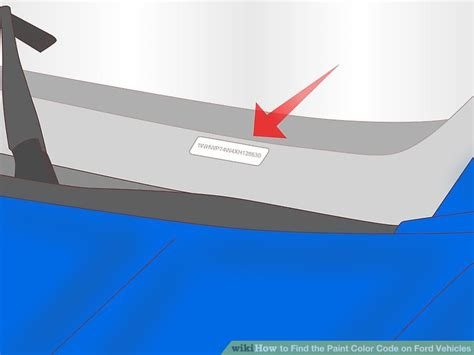 color number finder 3 ways to find the paint color code on ford vehicles wikihow