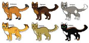 warrior cat names list warrior cat adopts 1 apprentice s closed by evertooth on