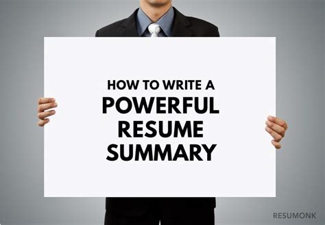 How To Write A Powerful Resume Summary by Resumonk Resume Writing Tips Career Advice