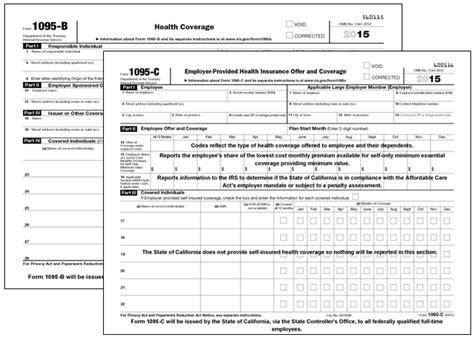 health insurance form 1095 b annual health care coverage statements
