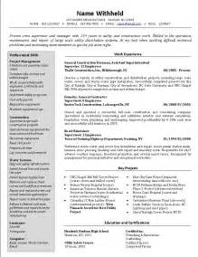 resume exles for construction foreman exles of resumes air hostess resume for 89 captivating sle cv domainlives