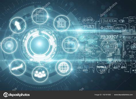 Digital Technology Business Wallpaper by Fond D 233 Cran Digital Business Interface Photographie