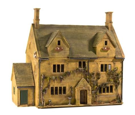 collectible buildings jj 23 24 a cotswolds style manor house miniatures from the collection of cookie ziemba and the estate