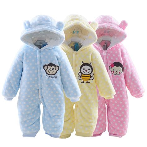 Infant Clothes by 2015 Autumn Winter Baby Clothes Baby Rompers Polar Fleece