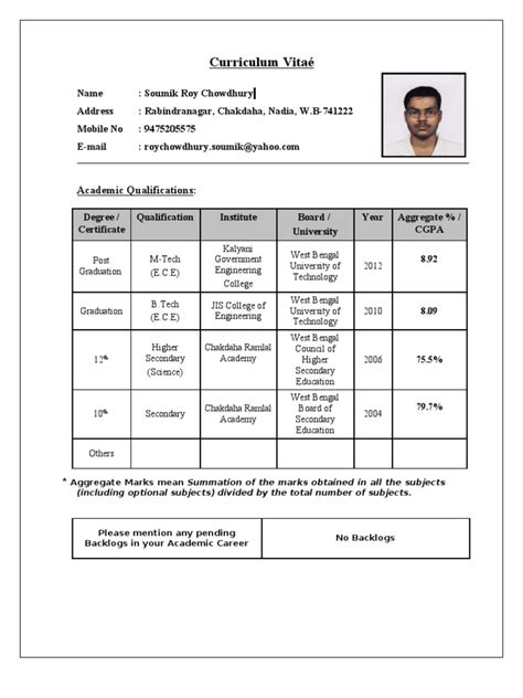 tcs resume format for freshers doc resume format for tcs