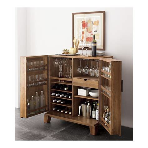 crate and barrel steamer bar cabinet marin bar cabinet