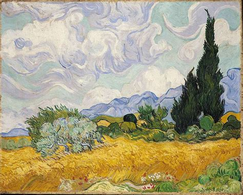 national gallery gogh london national gallery next 20 20 vincent van gogh a wheatfield with cypresses
