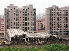 Shanghai Building Collapses, Nearly Intact China Real