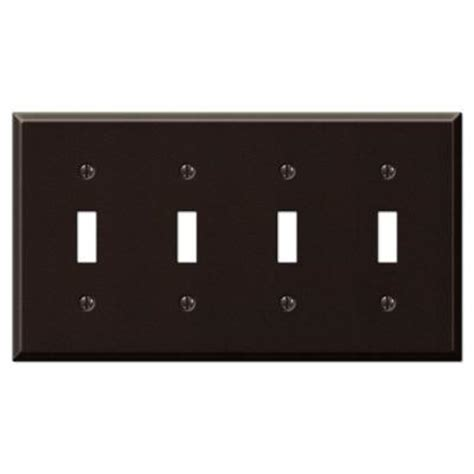 creative accents wall plates creative accents steel 4 toggle wall plate antique