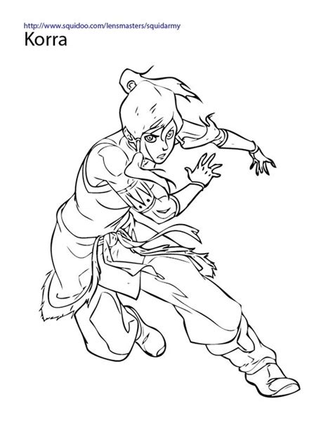 legend  korra coloring pages coloring pages