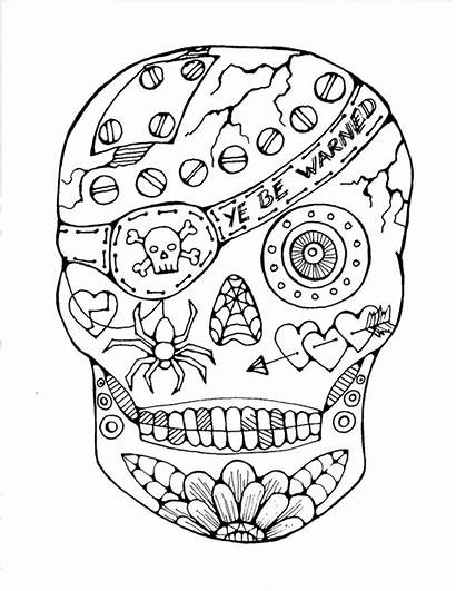 Coloring Pages Dead Skull Sugar Bestcoloringpagesforkids