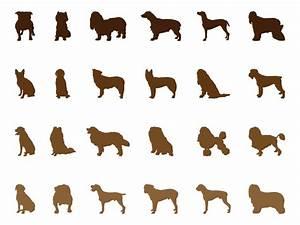 Dog Silhouettes Set Vector Art & Graphics   freevector.com