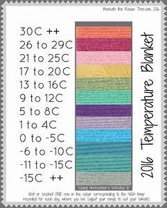 Brewing Temperature Chart Knit Or Crochet A Temperature Blanket A Row For The Temp