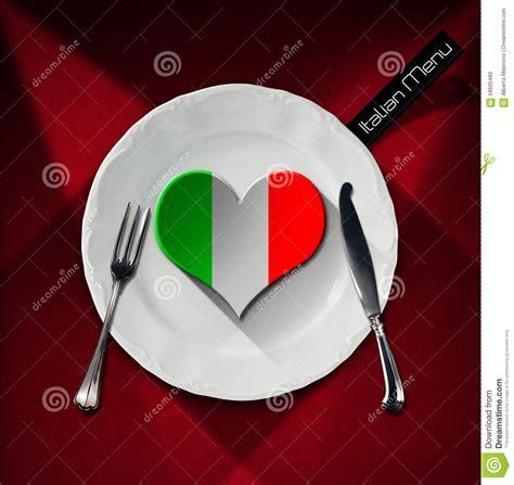 Healthy Italian Food   Restaurant Menu Design Stock