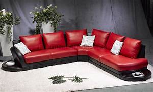 red black leather modern two tone sectional sofa With red and black leather sectional sofa