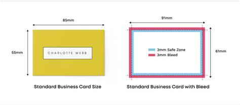 standard font size  business cards paul