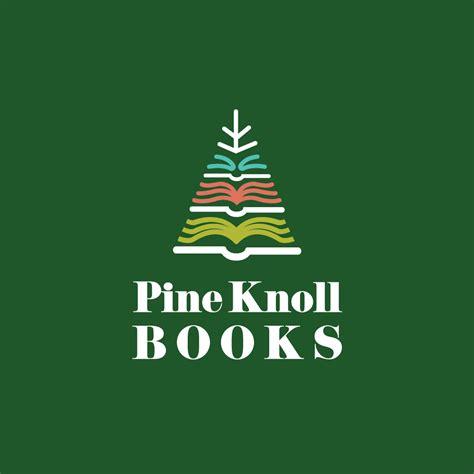 pine knoll bookspine tree logo design logo cowboy