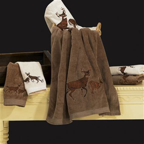 delectably yours com embroidered whitetail deer towels 3