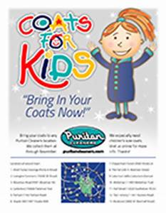 Coats For Kids Campaign - Puritan Cleaners Richmond, VA