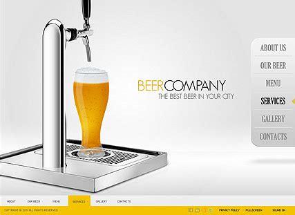 beer bottleneck label powerpoint template beer company flash website template best website templates