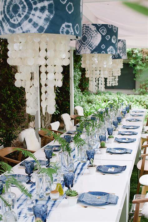 indigo inspired bridal shower indigo themed party