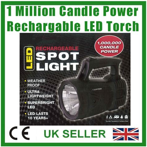 1 million candle light 1 million candle power rechargeable led spot light torch