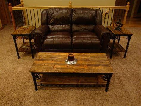 Custom crafted black walnut coffee table with live edges. Handmade Western Coffee Table And End Tables by Willow Creek Decor   CustomMade.com