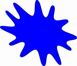 Blue Paint Splat Clip Art at Clker.com - vector clip art ...