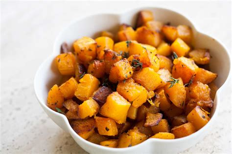 butternut squash recipes butternut squash with browned butter and thyme recipe simplyrecipes com
